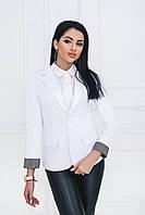 Пиджак на одну пуговицу белый, фото 1