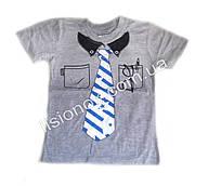 Детская футболка с галстуком Турция 6 лет Серый