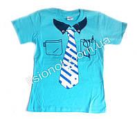 Детская футболка с галстуком Турция 6 лет Голубой
