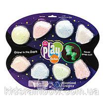 Playfoam Шариковый пластилин 8 цветов светящийся в темноте