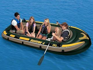 Надувные лодки, байдарки, весла.