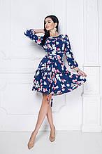 Платье Annie свободного кроя с рюшами и съемным поясом-кушаком