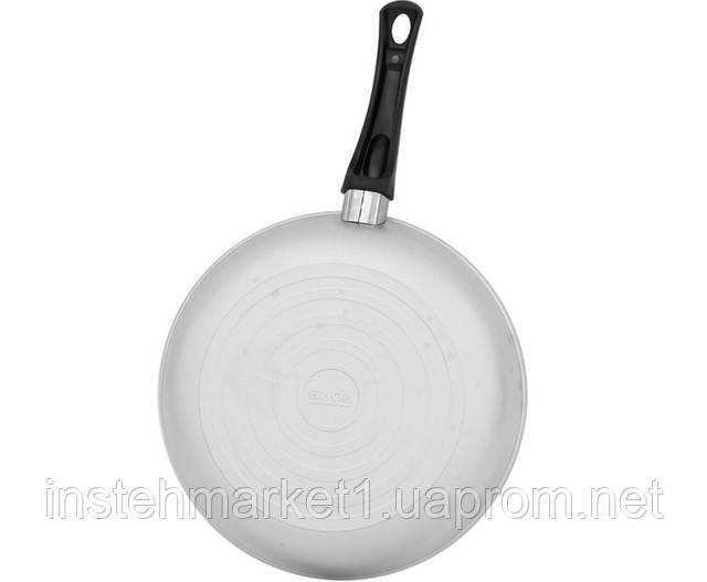 Сковорода з рівним дном БІОЛ А223 (220х98 мм) з кришкою, бакелітова ручка в інтернет-магазині