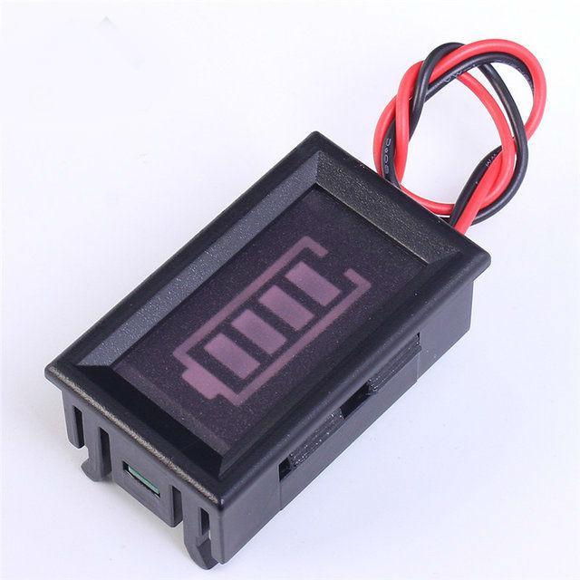 Индикатор уровня заряда 4-сегментный в корпусе 8.4В
