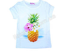 Дитяча футболка з ананасом, Угорщина 110см, Білий