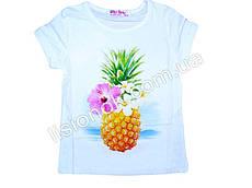 Детская футболка с ананасом, Венгрия 116см, Белый