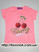 Детская футболка с черешней, Венгрия 110см, Розовый