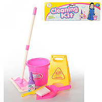 Набор для уборки 979-34 ведро, совок, щетка, швабра, моющее средство