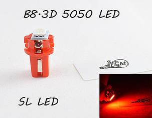 LED лампа в подсветку приборной панели, цоколь B8.3D SL LED красный, фото 2