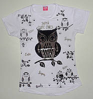 Туника-футболка для девочки 8, 9, 10, 11, 12 лет (пайетки перевертыш)