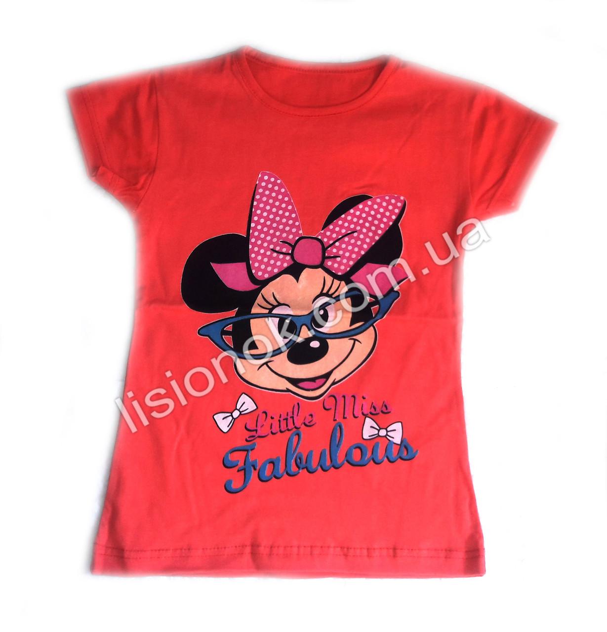 Детская футболка Минни-маус в очках Турция