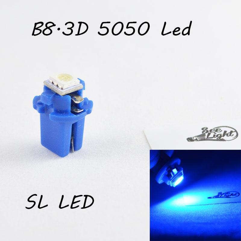 LED лампа в подсветку приборной панели, цоколь B8.3D SL LED синий