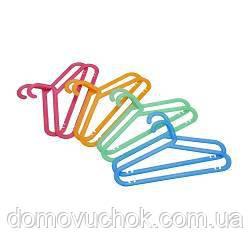 Вішалка дитяча 8 шт. різні кольори ( гнучкий пластик)