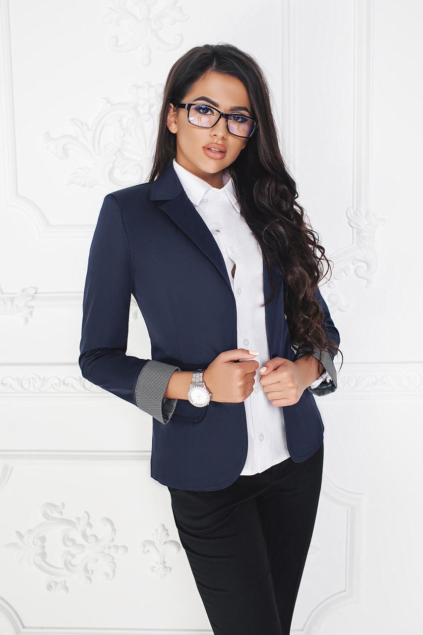 Пиджак на одну пуговицу темно-синий