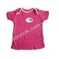 Футболка Carter's 6-9 мес. розовая с овечкой