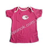 Футболка Carter's 6-9 міс. рожева з овечкою