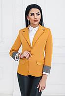 Пиджак на одну пуговицу горчичный, фото 1