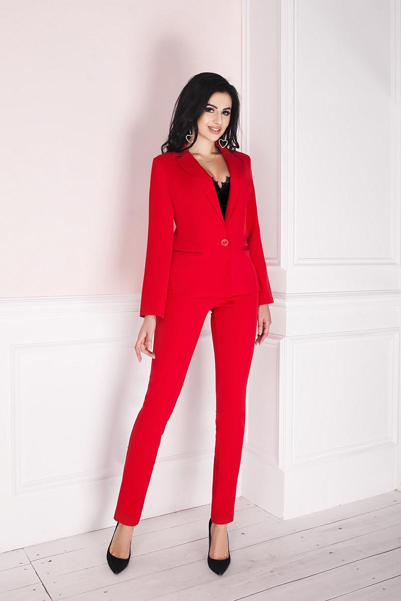e8ccf8eb718 Костюм женский классический брюки и пиджак - Красный - sez-on.com Нижнее  белье