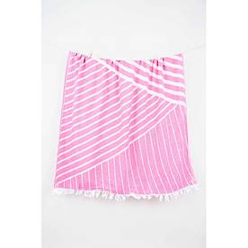 Полотенце Barine Pestemal - Cross 95*165 Pink розовое