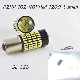 Автомобильная лампа SLP LED 102-4014 SMD в задний ход с цоколем 1156(P21W)(BA15S)(R5W)  Белый