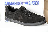 Мужские комфортные туфли из натуральной кожи Armando 01 черн
