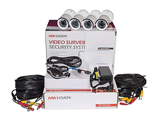 Комплект TurboHD видеонаблюдения Hikvision DS-J142 I ( 7104HQHI-F1/N + 4*2CE16DOT-IR(3.6) )