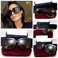 Очки Gucci, солнцезащитные очки Гуччи черные