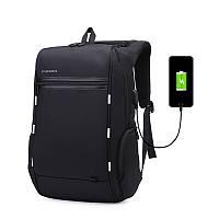 Рюкзак для ноутбука Picano черный c USB портом, фото 1