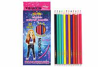 Олівці кольорові KIDIS STAR MODEL 12 кольорів гнучкі