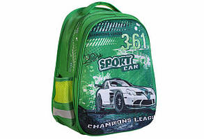 Рюкзак шкільний каркасний для хлопчика KIDIS SPORT CAR 7191 39 * 30 * 18 см
