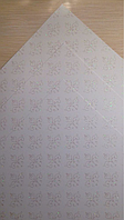 """Дизайнерская бумагаДамаск айвори с глиттером из набор """"Мереживо весни"""", размер 30х30 см"""