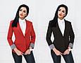 Пиджак женский удлиненный без подкладки рукав с отворотом, фото 4