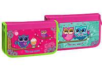 Пенал школьный  KIDIS для девочек на 2 отделения картонный Little owl