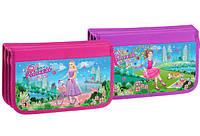 Пенал школьный KIDIS для девочек на 3 отделения  картонный Princes