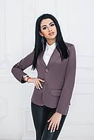 Пиджак классический серо-кофейный, фото 1