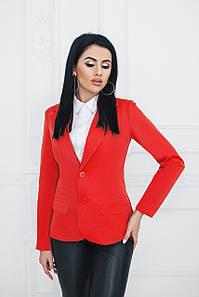 Пиджак классический красный
