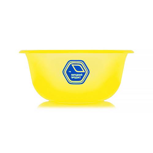 Миска 1,5 л жовта (арт. 71ж)