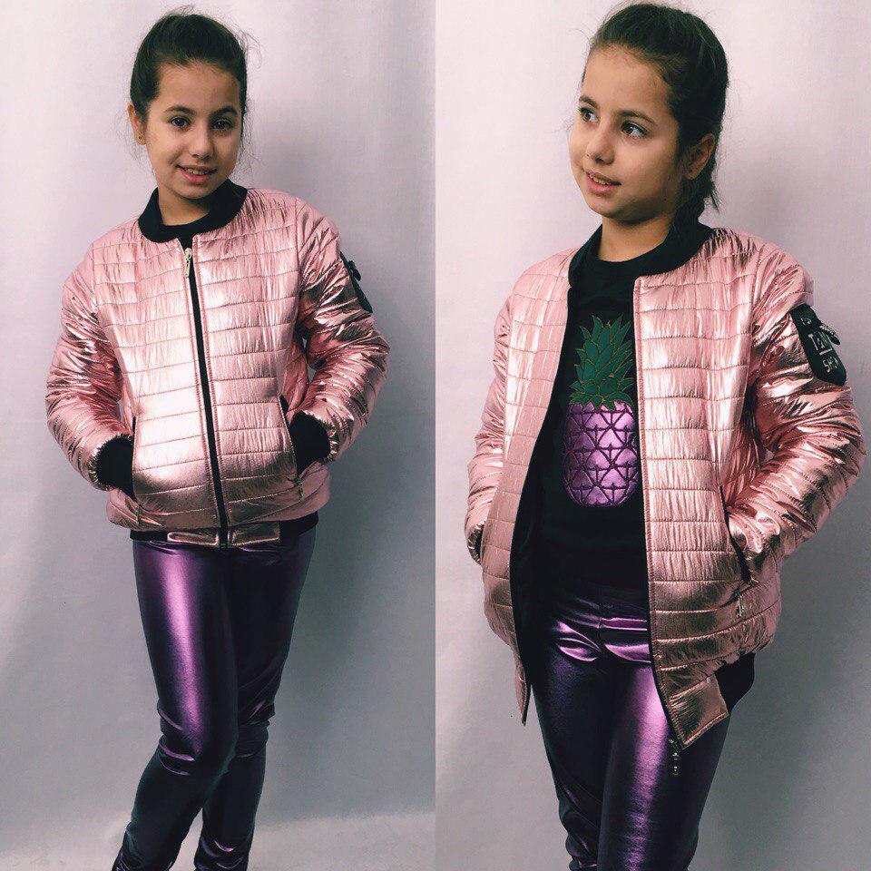"""Подростковая демисезонная куртка для девочки """"Denver"""" с карманами (3 цвета)"""