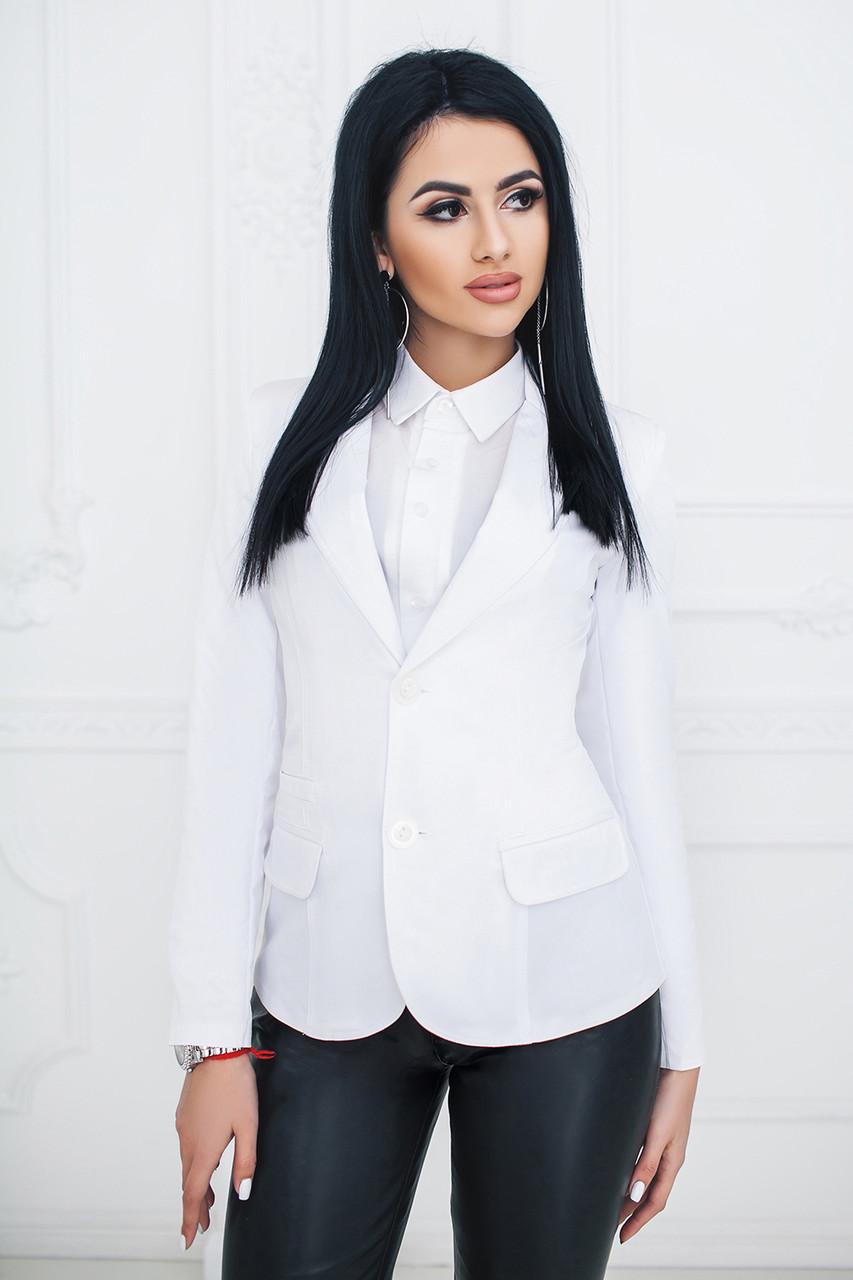 Пиджак классический белый
