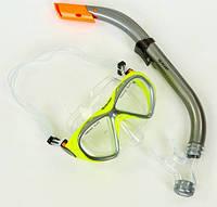 Набор для плавания подростковый(маска и трубка) ZELART М258-SN93-PVC-BR коричневый