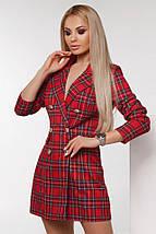 """Короткое стильное платье-пиджак в клетку """"TIARA"""" с четвертным рукавом (2 цвета), фото 3"""