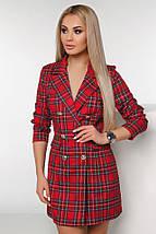 """Короткое стильное платье-пиджак в клетку """"TIARA"""" с четвертным рукавом (2 цвета), фото 2"""