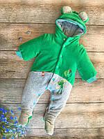 Демисезонный комбинезон-человечек зеленый р.62-74