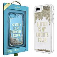 Чохол для iPhone 6 Plus / 6S Plus Kate Spade Liquid Clear Glitter Case (KSIPH-034-GLD)