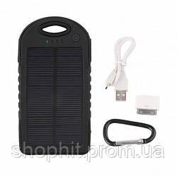 Внешний аккумулятор Power Bank Solar 6000 mAh с солнечной батареей