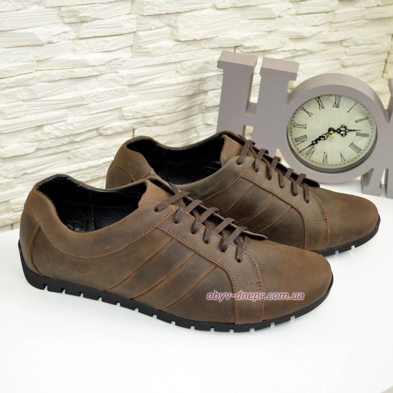 6d950f6244ba9 Туфли-кроссовки кожаные мужские комфортные, цвет коричневый: продажа ...