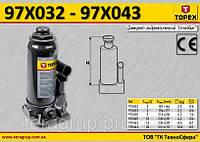 Домкрат гидравлический бутылочный 3т, 195-370мм,  TOPEX  97X033