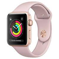 Смарт-часы Apple Watch Series 3 GPS 42mm Gold Aluminum w. Pink Sand Sport B. - Gold (MQL22)