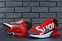 Кроссовки мужские Nike Air Max 270 Supreme код товара KD-11434. Красные