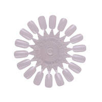 """Палитра плаcтиковая для образцов лака (типса """"ромашка"""" 18 шт.), прозрачный плотный пластик"""